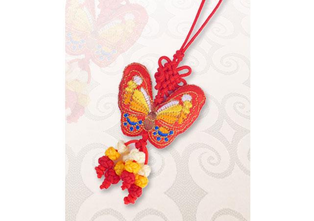 中国结-金蝴蝶图片