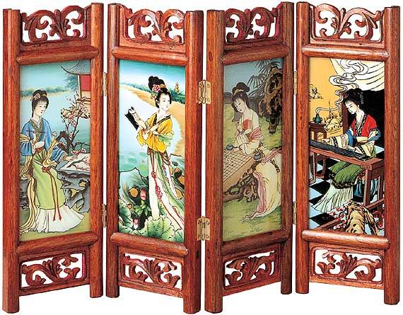 屏风美人古代屏风图片四大美女屏风中国古代屏风图片